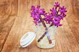 mason flower jar